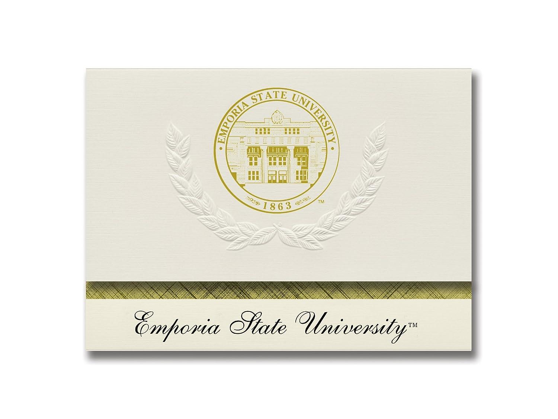 Signature Ankündigungen Emporia Staatliche Universität Graduation Ankündigungen, platin Stil, Elite Pack 20 mit EMPORIA State u. Dichtung Folie B0793FC4L6 | Verrückter Preis, Birmingham