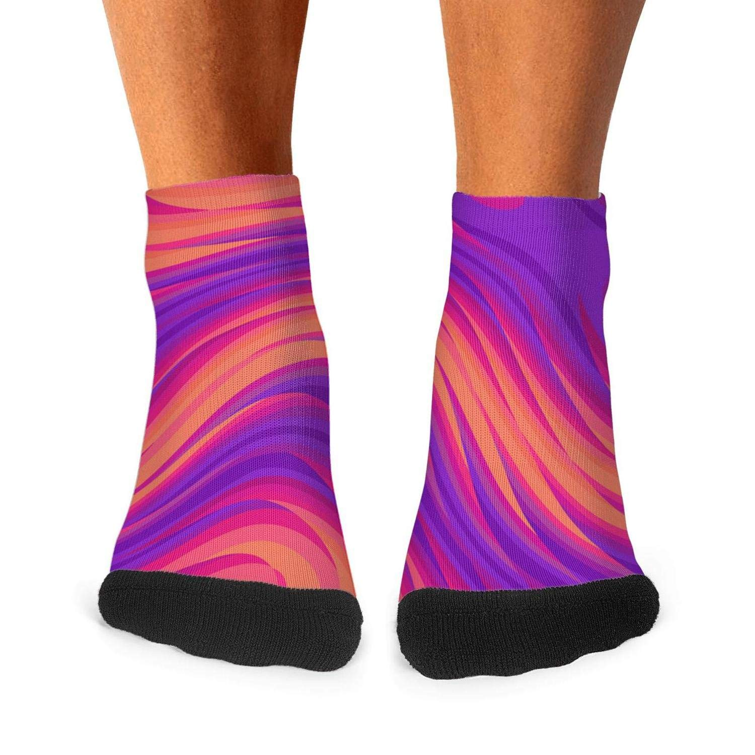 Trippy Tree Colorful mens socks retro breathability compression socks Fashion Original short socks Unisex