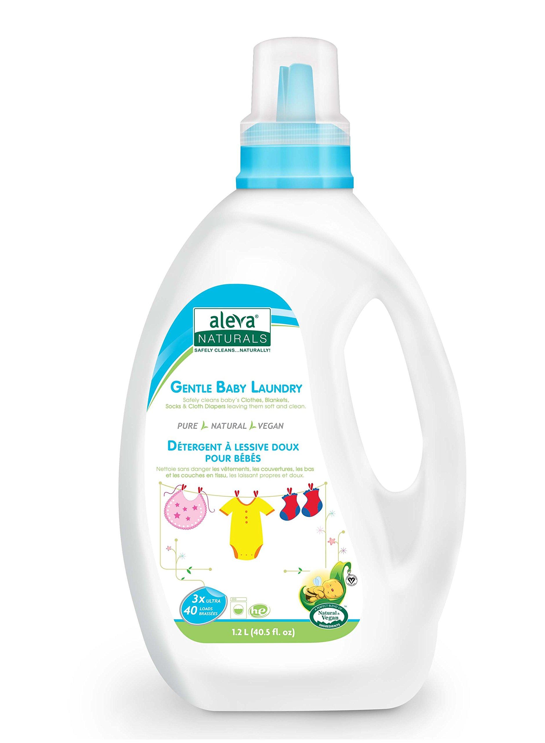 Aleva Naturals Gentle Baby Laundry, (40 Loads) 40 fl.oz / 1.02L by Aleva Naturals