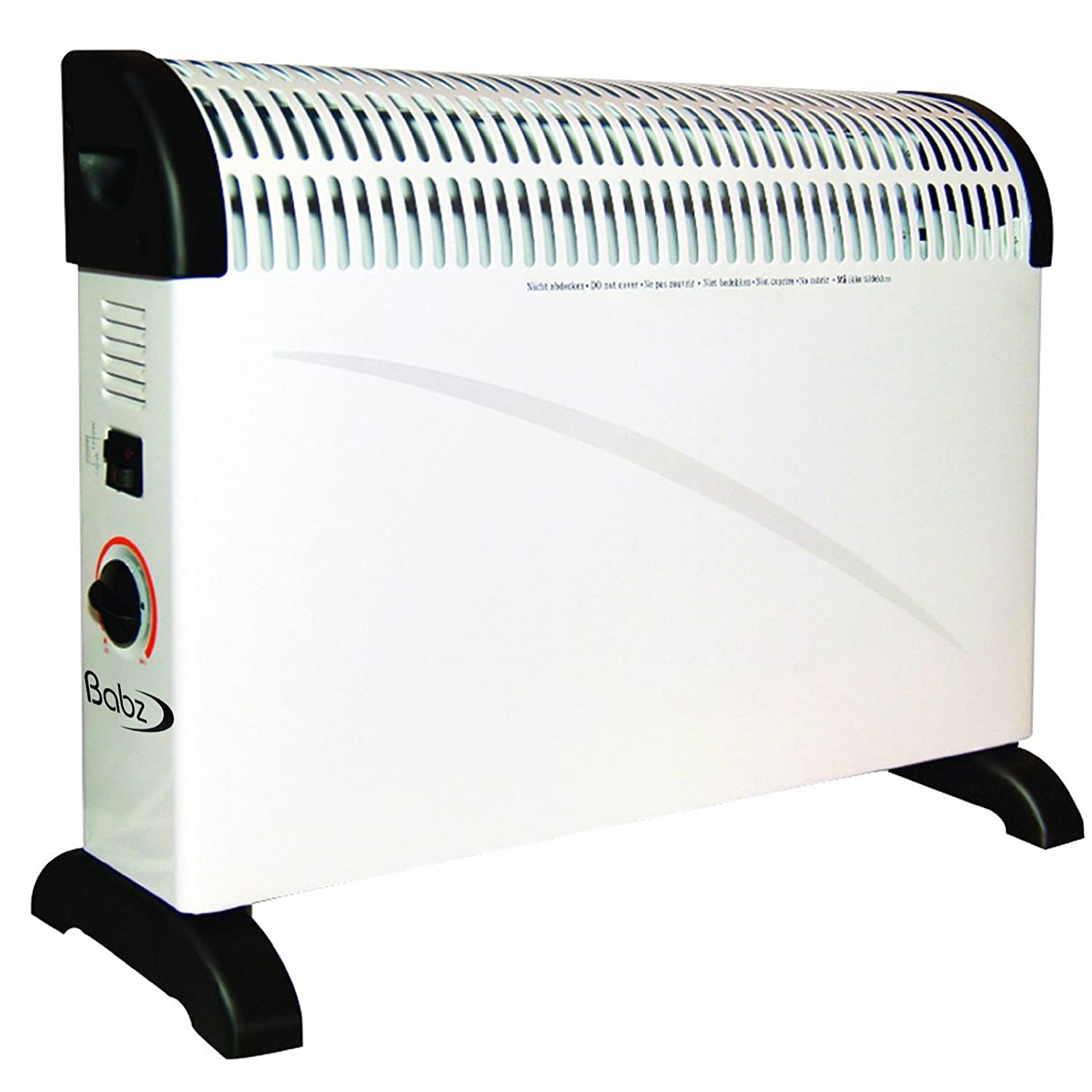 Babz 2KW 2000W Convector Heater with Thermostat in White (Convection Heater) Loops