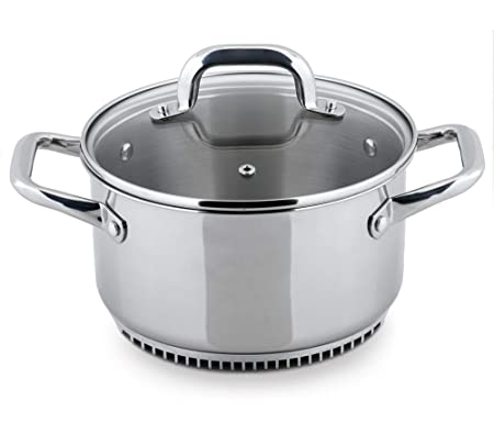 Turbo Pot RS3003 FreshAir Stainless Steel 3.5 Qt. Casserole Pot Dutch Oven energy efficient cookware for gas stove