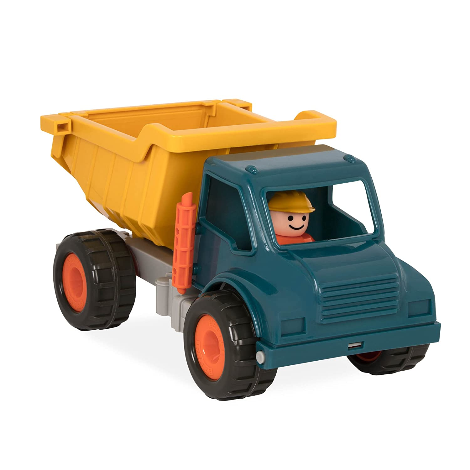 Battat -Dump Truck with Working Movable Parts and 1 Driver – Construction Vehicle Toy Trucks for Toddlers 18m+