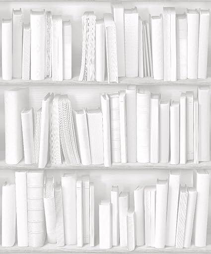 Muriva Books White Wallpaper