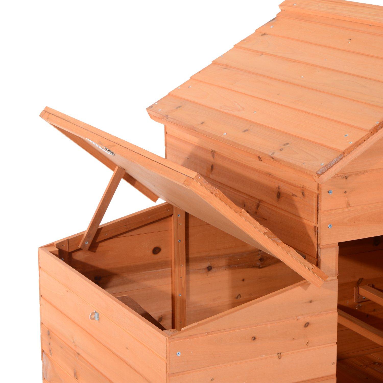 Pawhut Outdoor Raised Leg Hen House Chicken Coop by PawHut (Image #3)