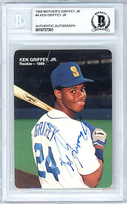 bad869f0f3 Ken Griffey Jr. Autographed 1989 Mother's Cookies Rookie Card Autographed  #4 Seattle Mariners Autographed