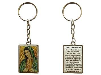 Amazon.com: Virgen de Guadalupe Llavero (bañado en plata ...