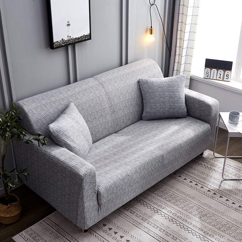 CHYOOO Funda De Sofa Sofá Moderno Gris Minimalista De Piel ...