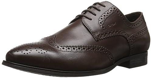 Geox U Albert 2FIT B - Zapatos de Cordones de Piel para Hombre Marrón Braun (LT BROWNC6002) 45 Pq487n