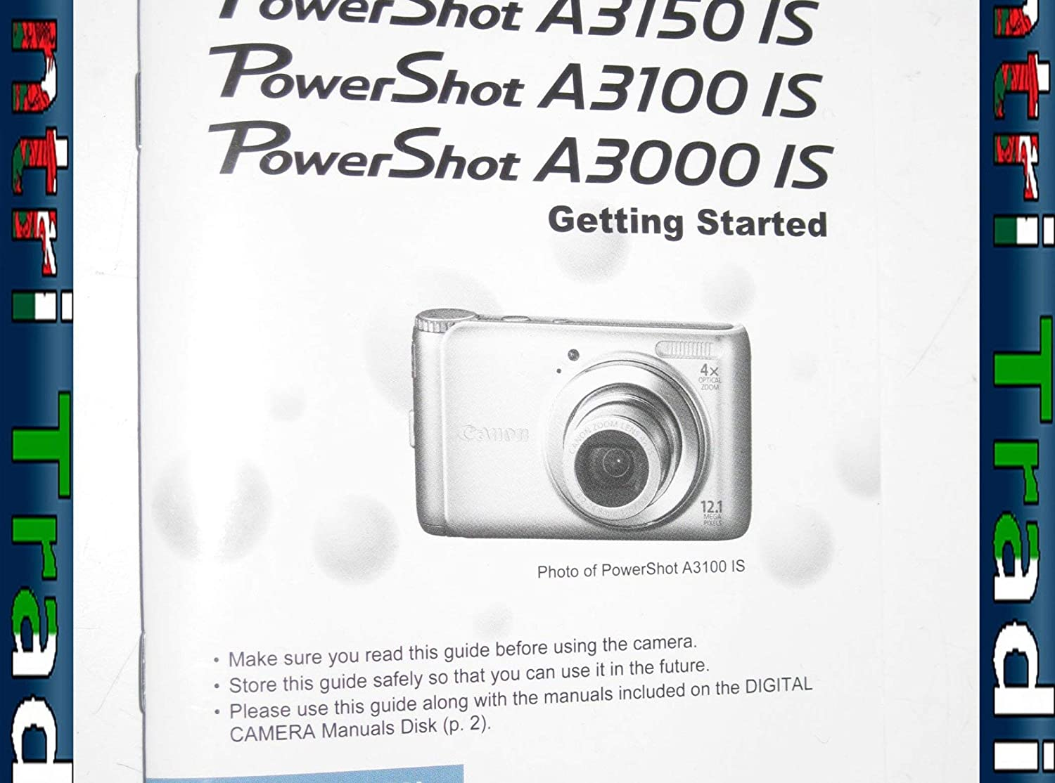 Pantri trading: canon powershot a3150 a3100 a3000 is guide cel.