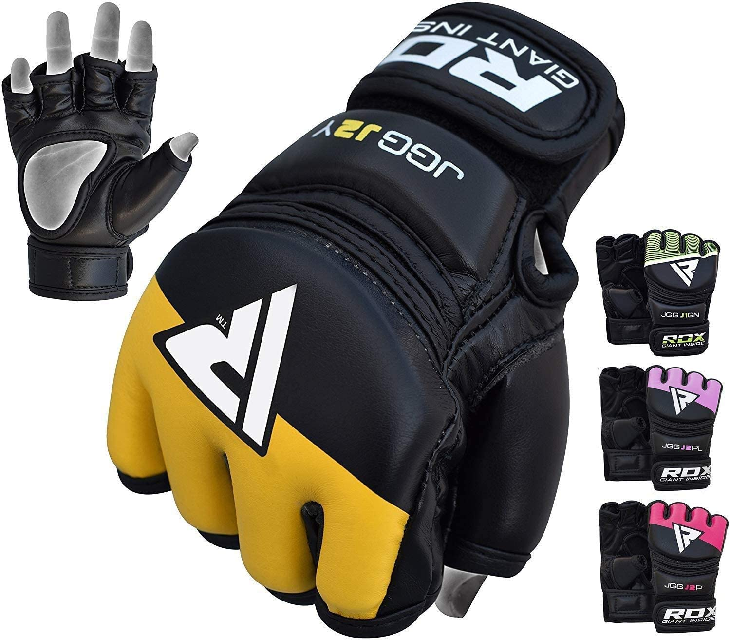 RDX Kids MMA Gloves for Grappling Martial Arts Training   Maya Hide Leather Mitts for Youth  Good for Kickboxing, Sparring, Muay Thai, Junior Cage Fighting & Punching Bag : Sports & Outdoors