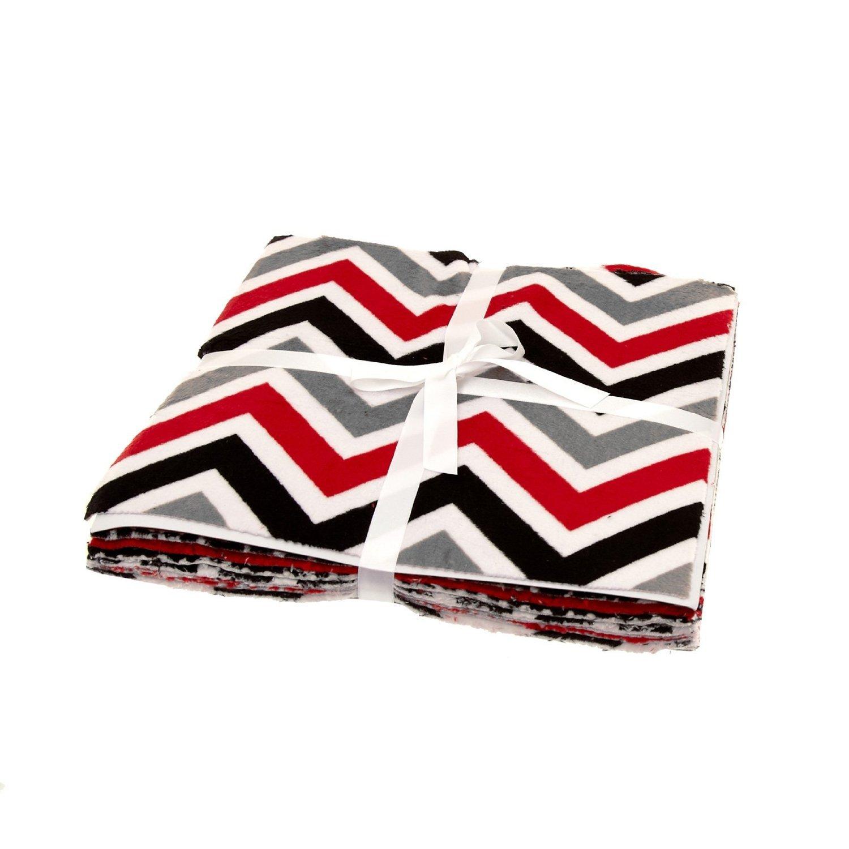 Minky Cuddle Cakes 10'' Assortment Maddening Monochromatic by Shannon Fabrics