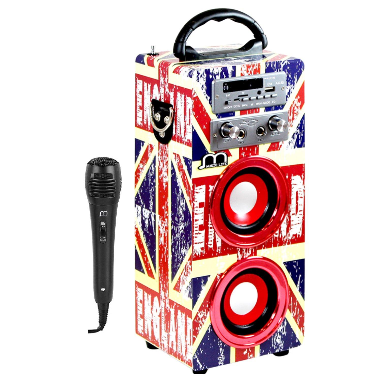 Karaoke-Lautsprecher mit Mikrofon und Bluetooth, tragbar und kabellos, USB, TF-Karte, wiederaufladbar, mit FM-Radio Music Life