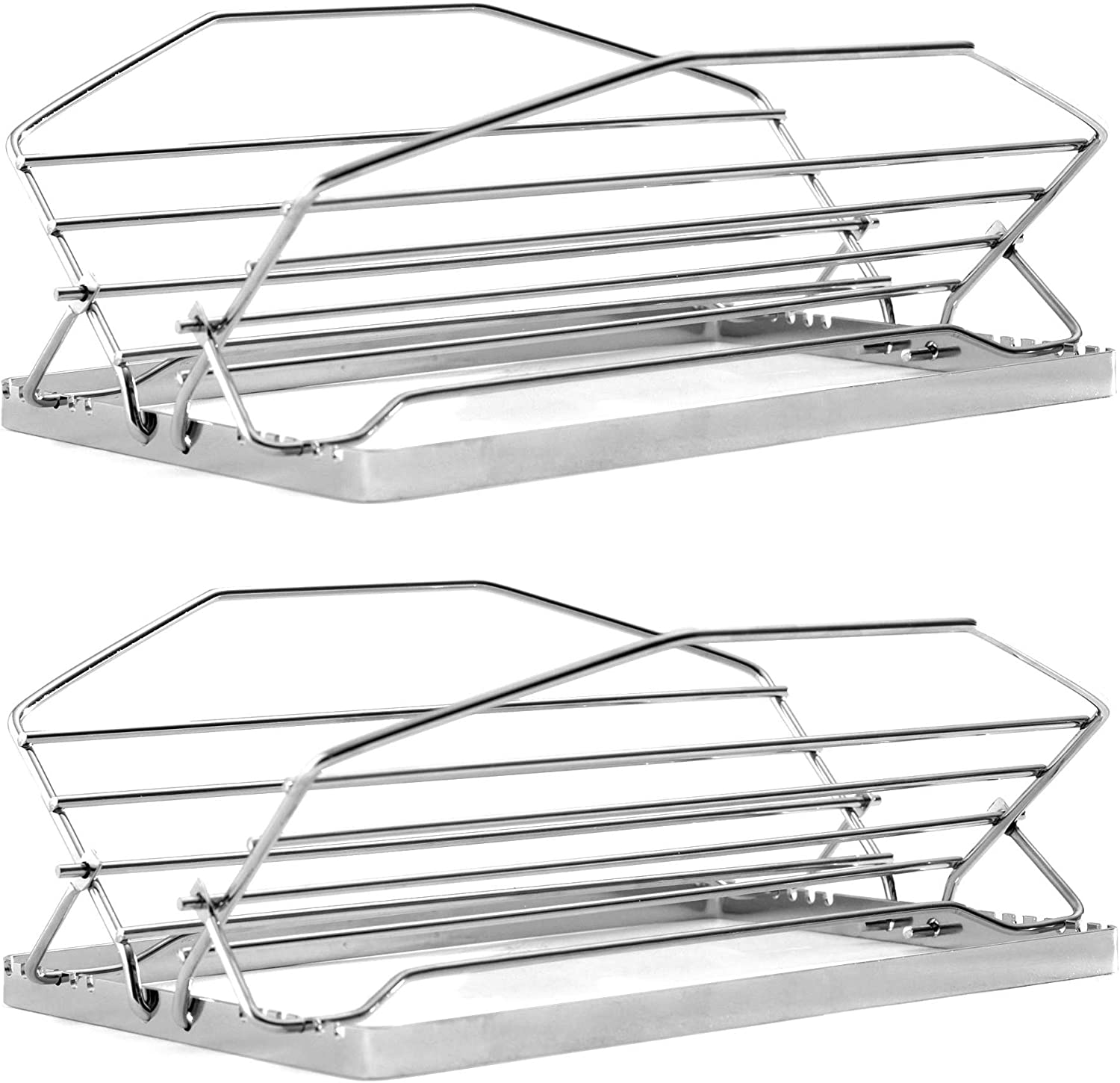 Norpro Adjustable Roast Rack Nickel-plated, 11 inches, Silver: Kitchen & Dining