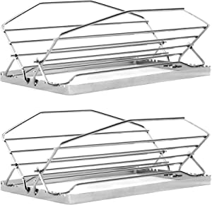 Norpro Adjustable Roasting Rack Heavy Duty, Adjust To 7 Positions (2-Count)