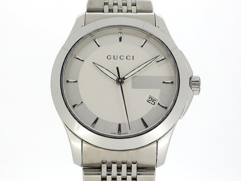 (グッチ) GUCCI 腕時計 G-タイムレス メンズ時計 YA126401 SS 中古 B07DQMKXVW