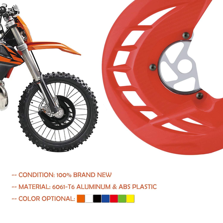 SODIAL Couvercle De Couverture De Frein De Moto Avant pour 125 150 250 300 450 Rouge