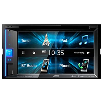 "JVC KW-V250BT Multimedia Receiver Featuring 6.2"" WVGA Clear Resistive Touch Monitor/Bluetooth / 13-Band EQ: Automotive"