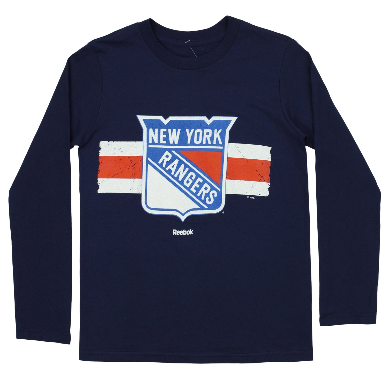 NHL Youth's New York Rangers Long Sleeve Honor Code UB Tee, Navy Outerstuff