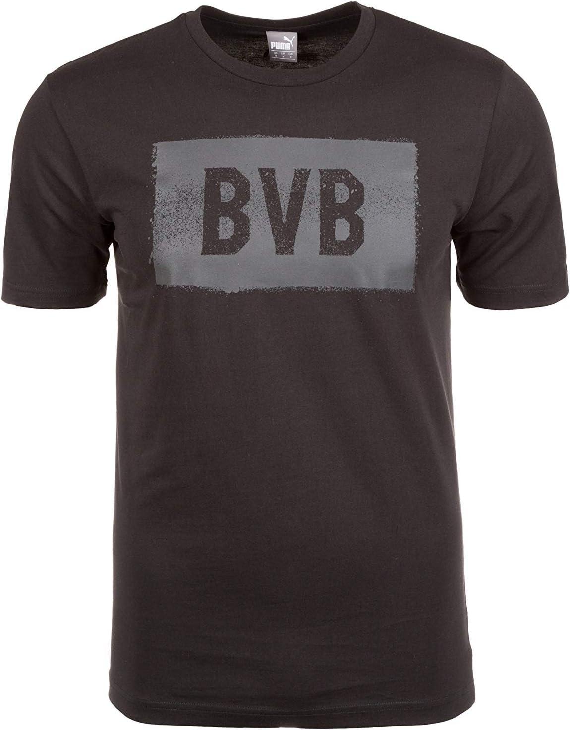 Borussia Dortmund 09 Stencil – Camiseta, Negro, Medium: Amazon.es ...