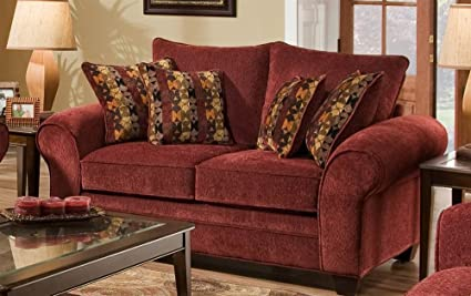 Amazon.com: American Furniture Upholstered Loveseat in ...
