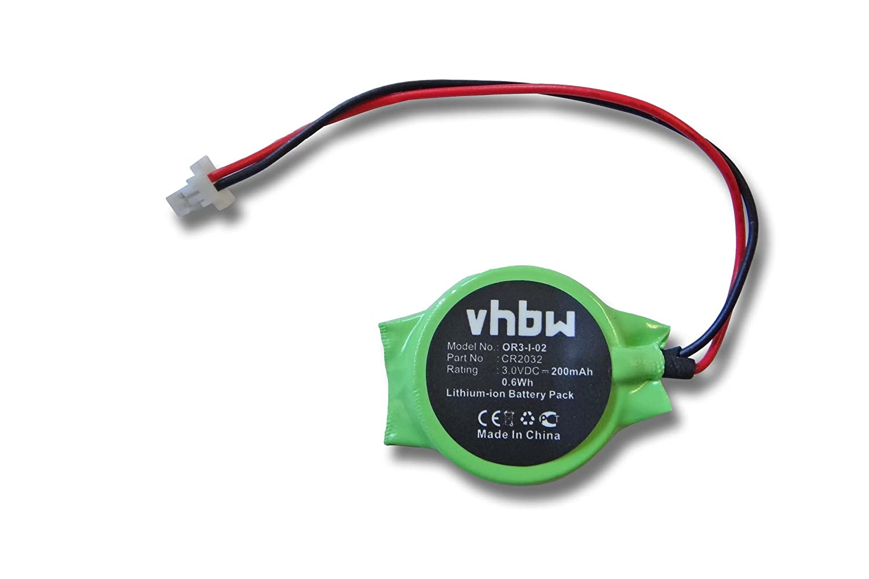 vhbw Bios Batterie 200mAh (3V) Notebook Laptop Acer Aspire 6920, 6920g, 6935, 8920 wie CR2032. VHBW4250667387075