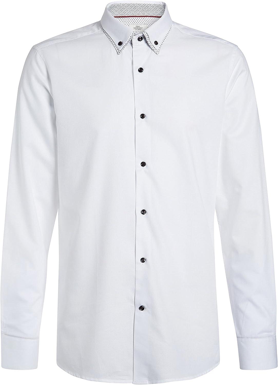 next Hombre Camisa Cuello Doble Estampado: Amazon.es: Ropa y accesorios