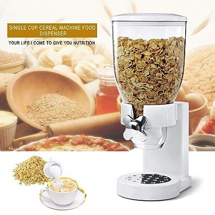 FairytaleMM Multifuncional Pasta Cereal Dispensador de Alimentos Secos Contenedor de Almacenamiento Dispensar la máquina de la
