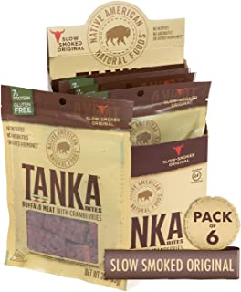 product image for Bison Pemmican Meat Bites with Buffalo & Cranberries by Tanka, Gluten Free, Beef Jerky Alternative, Slow Smoked Original, 3 Oz, Pack of 6 (Packaging May Vary)