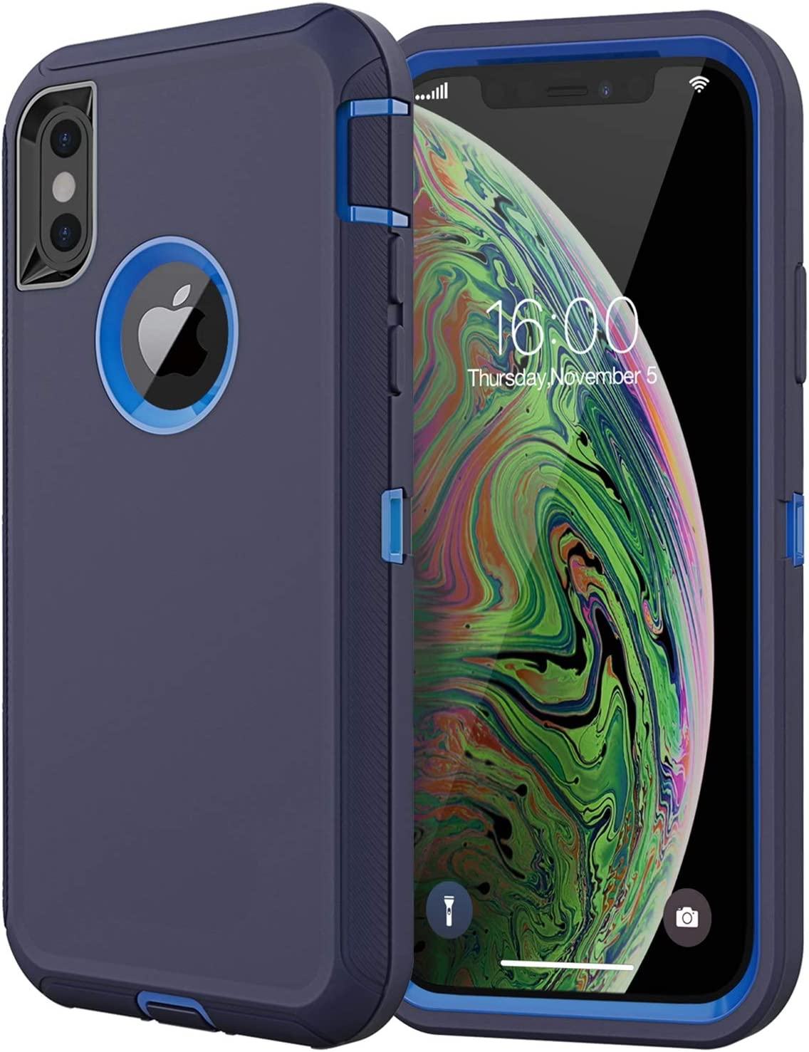 Diverbox Compatible with iPhone Xs Max Case, [Shockproof] [Dropproof] [Dust-Proof],Heavy Duty Protection Phone Case Cover for Apple iPhone Xs Max (Navy Blue)