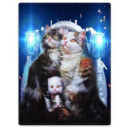 Mantas manta de forro polar manta para sofá cama, diseño de gatos de gatitos y