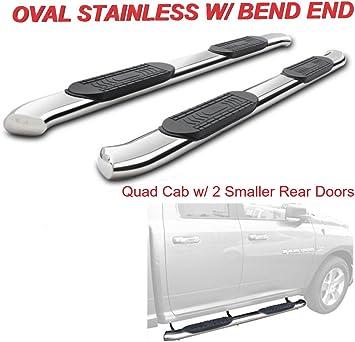"2009-2018 Dodge Ram 1500 Quad Cab 4/"" S.S Curved Nerf Bar Side Step Running Board"