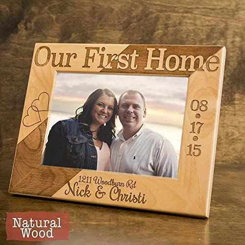 amazon com our first home personalized frame new home
