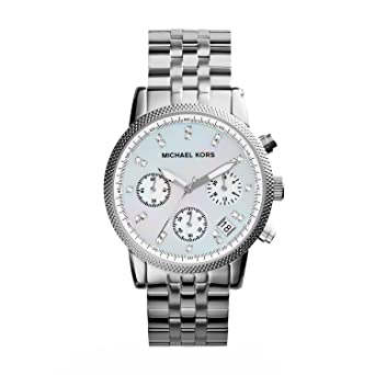 4628d7554fb6 Amazon.com  Michael Kors Women s Ritz Silver-Tone Watch MK5020 ...