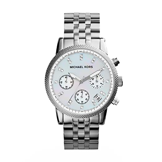 d6c86be698f73 Michael Kors Mk5020 Ladies Sport Chronograph Mother of Pearl Dial with  Stainless Steel Bracelet Watch  Michael Kors  Amazon.co.uk  Watches