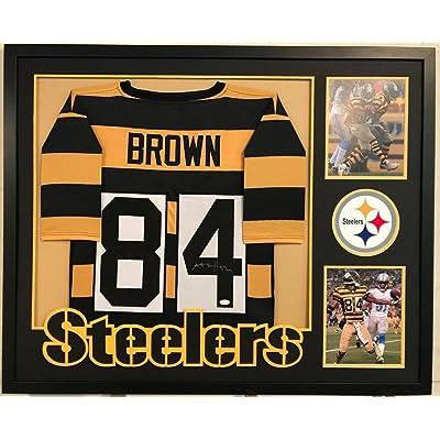 big sale b697e 8bf76 Antonio Brown Autographed Custom Framed Pittsburgh Steelers ...