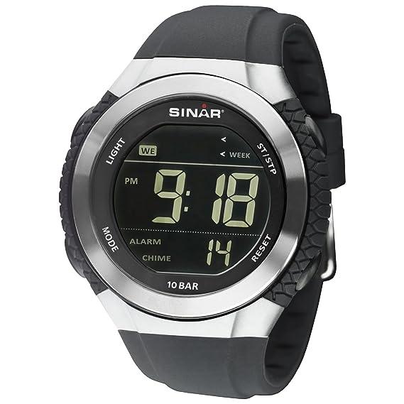 Sinar Reloj digital con pantalla inversem Negro 10 bar XM de 21 - 19: Amazon.es: Relojes