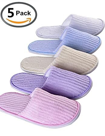 454a38141d115 5 Pairs SPA Slippers,Assorted Color,for...