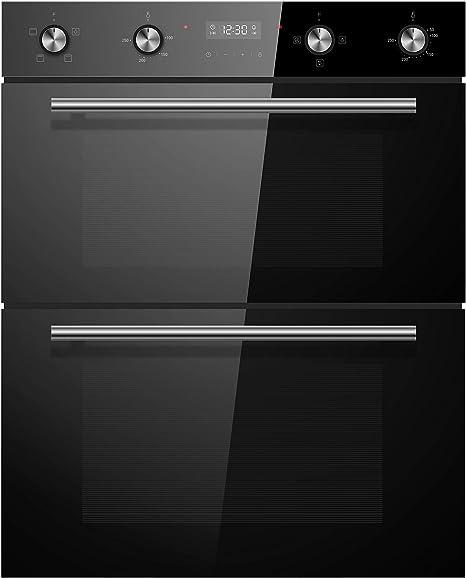 Cookology CDO720BK 60cm Negro Built-under Eléctrico Doble Horno y temporizador