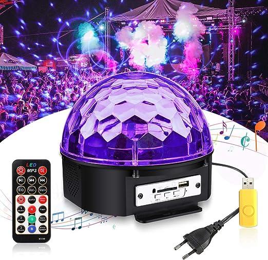 Luz de Effecto UV, SOLMORE Luz de Discoteca LED con Luz Negra Bola ...