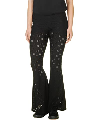 Ppla Women's Benny Pant Flared Pants With See Through Pattern