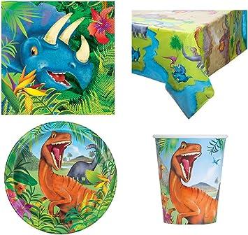 Dinosaur Party Pack para 16 Personas: Amazon.es: Juguetes y juegos