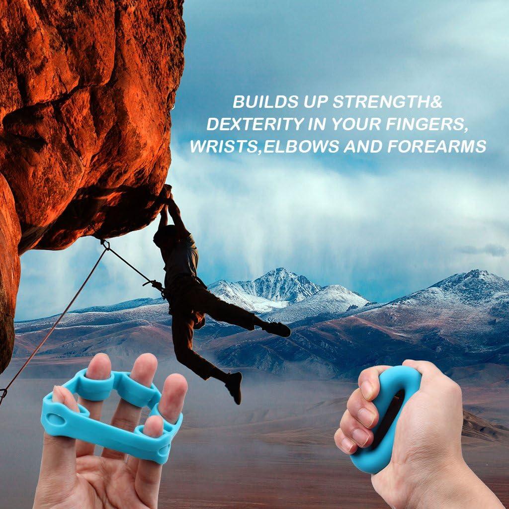 KELYDI 4-Pack Camilla dedo, ejercitador de dedos, manos Grip fortalecedor, la fuerza de agarre de dedo Trainer Pinza para Artritis del túnel carpiano ...