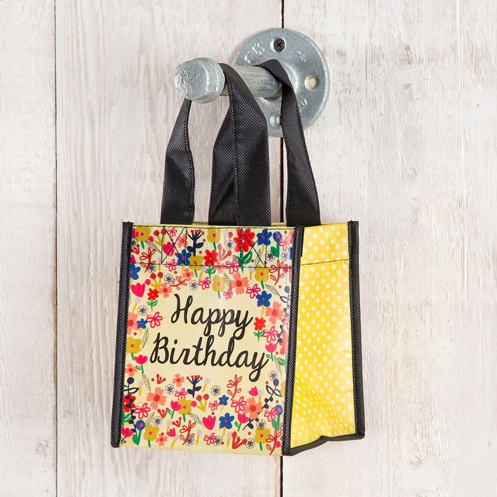 Set of 3 of Recycled Bags - Happy Birthday (Cream) - Small