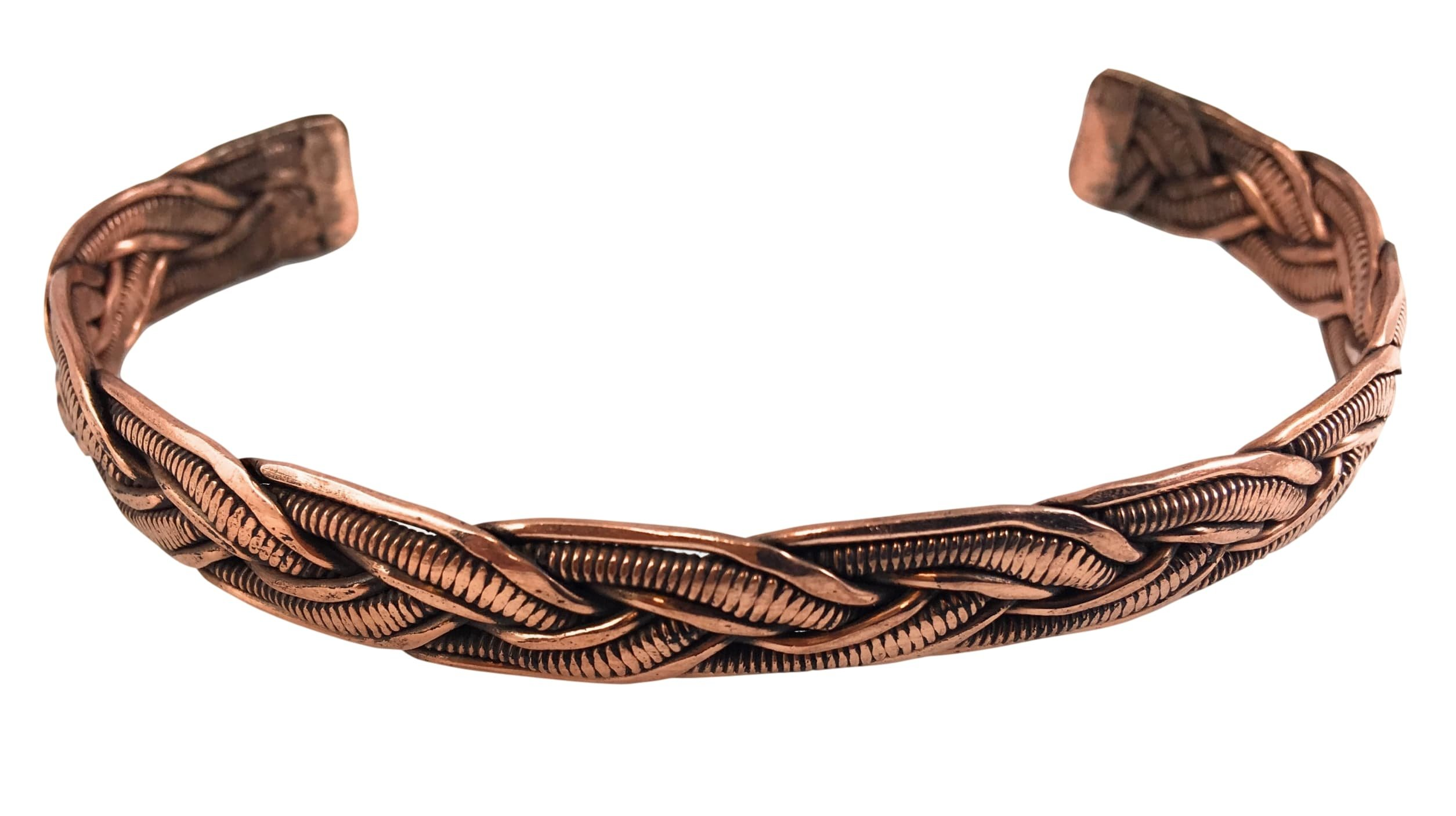 Handmade Copper Bracelet From Nepal by Hands Of Tibet
