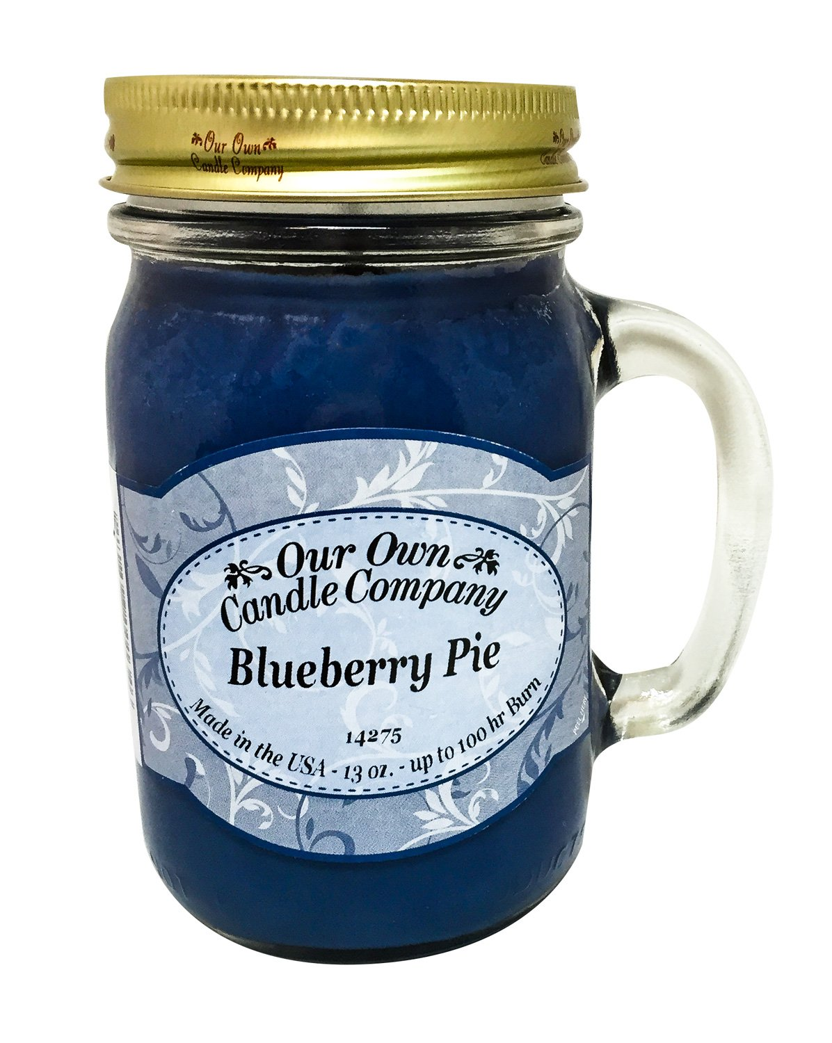 Our Own Candle Company Blueberry Pie Scented 13 oz Mason Jar Candle - Made in The USA