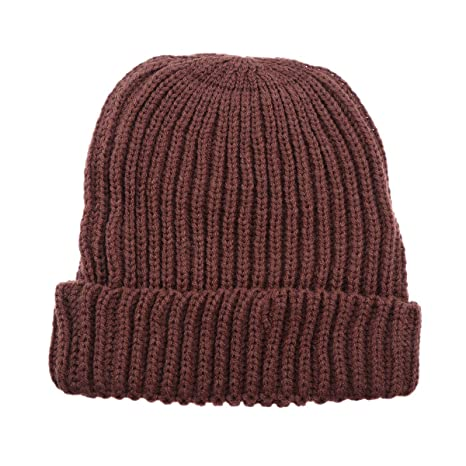 Buy Fashion Creative Winter Beanies Twist Striped Knit Cap Outdoor Warm Hat  Outdoor Leisure Wool Hat Ski Cap for Males Females Kids(Coffee) Online at  Low ... a03184902d81