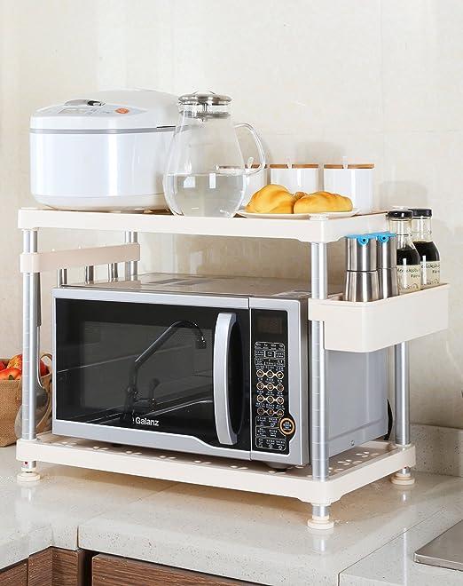 ikazs 1-rack moderno color blanco horno microondas cocina ...