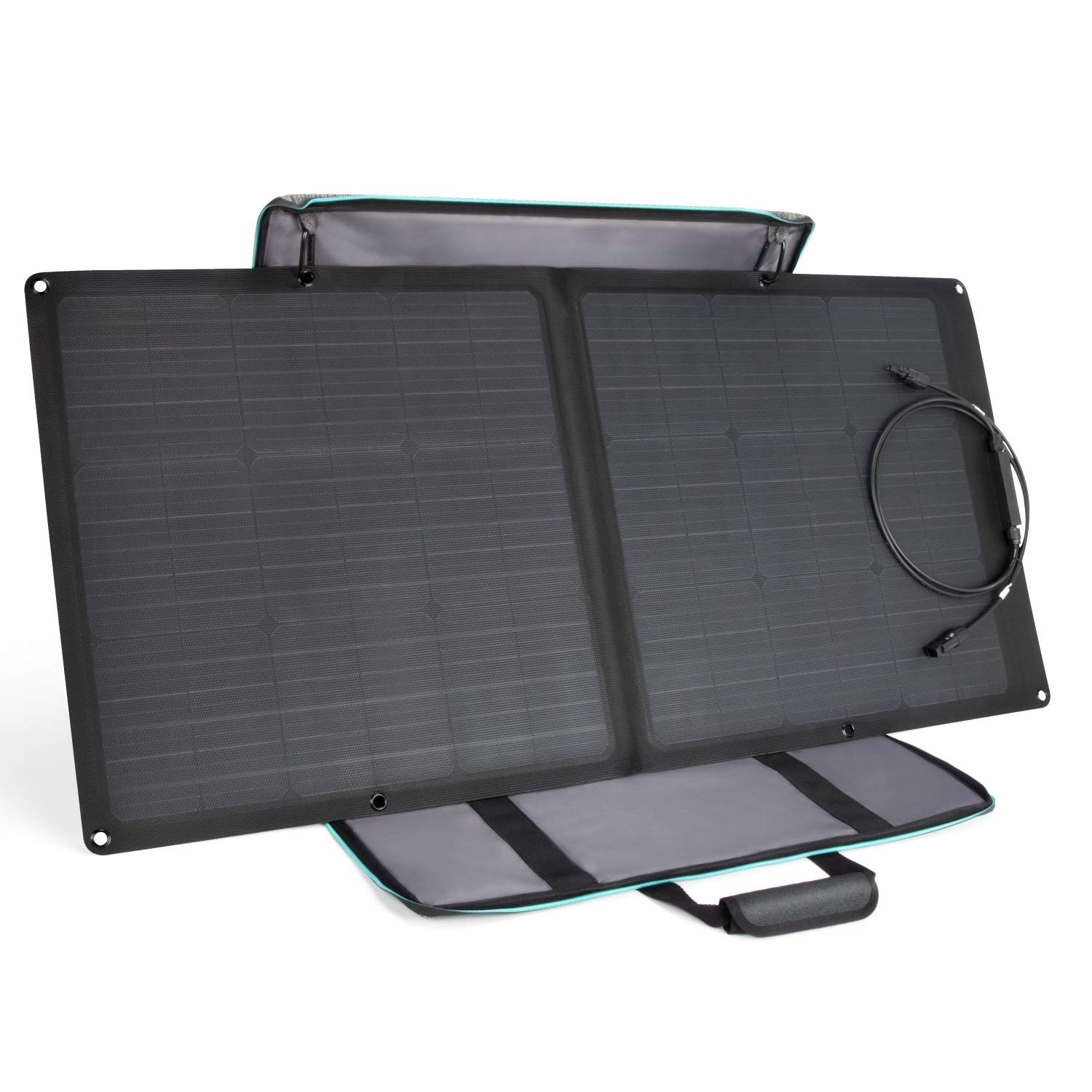 EF ECOFLOW Solar Panel 85W Portable Solar Charger Panel MC4 Waterproof Port Compatible with River 370 RIVER 412 Power Station Cables Sold Separately