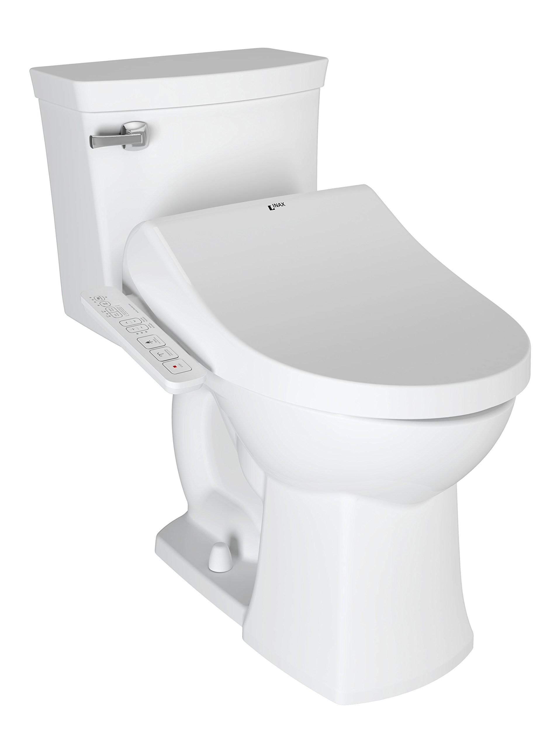 INAX 8013A70GPC-415 Heated Shower Toilet Bidet Seat with Side Panel Dual Nozzle Antibacterial, Deodorizer, Canvas White by INAX (Image #2)