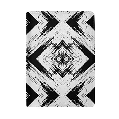 Blue Stripes Blocking Print Funda para Pasaporte Funda de ...